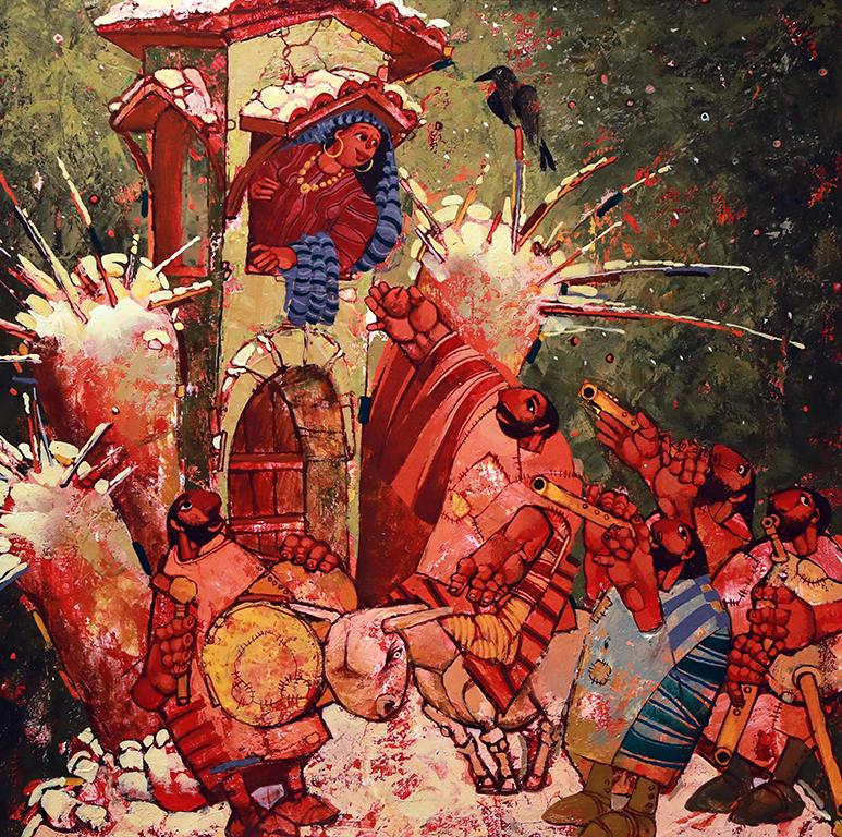 <p>Серенада, 2000 &ndash; 2010 маслени бои, платно</p>