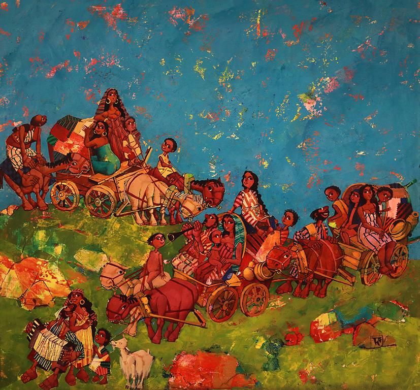 <p>Керван, 2000 &ndash; 2010 маслени бои, платно</p>