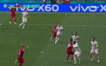 Дания - Белгия 1:0 /първо полувреме/