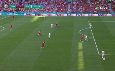 Голът на Юсуф Поулсен срещу Белгия