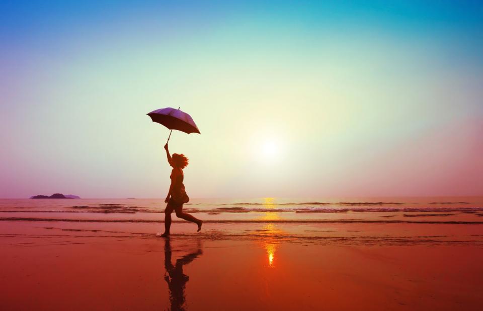 жена лято дъжд
