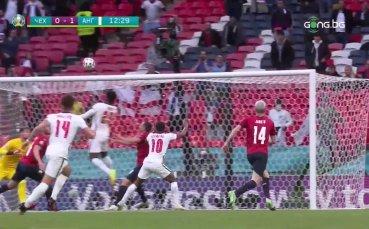 Чехия - Англия 0:1 /първо полувреме/
