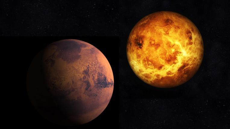 Венера Марс планета планети астрология космос