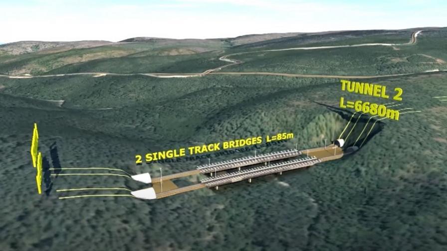 <p>Половината от жп линията между Елин Пелин и Костенец ще преминава под земята</p>