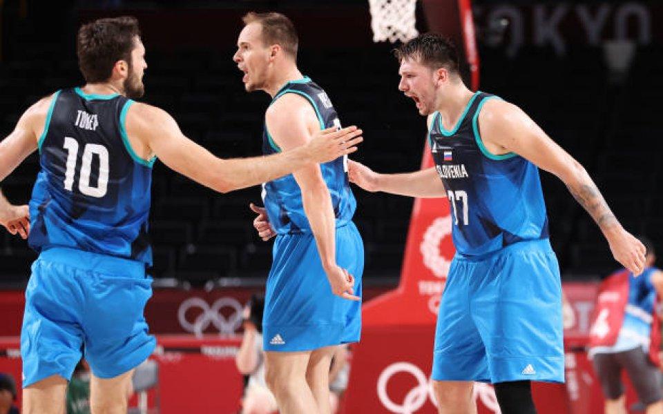 Европейският шампион Словения победи световния шампион Испания с 95:87 (20:24,