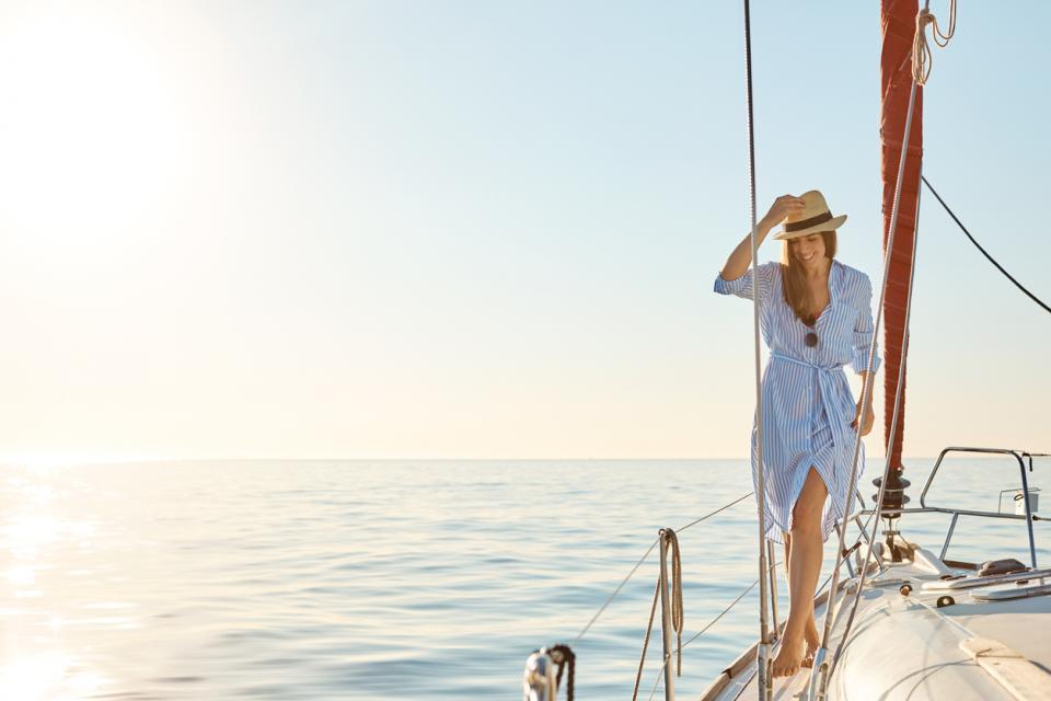 жена лято яхта лодка море слънце