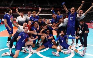 Франция се класира за финала на волейболния турнир на Токио 2020