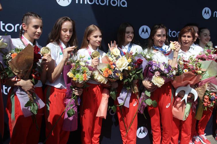 Ансамбълът по художествена гимнастика на България се завърна от Олимпийските