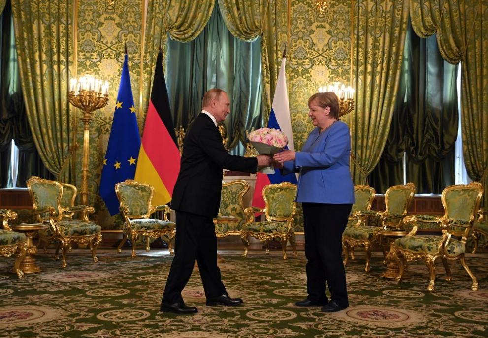 Путин и Меркел