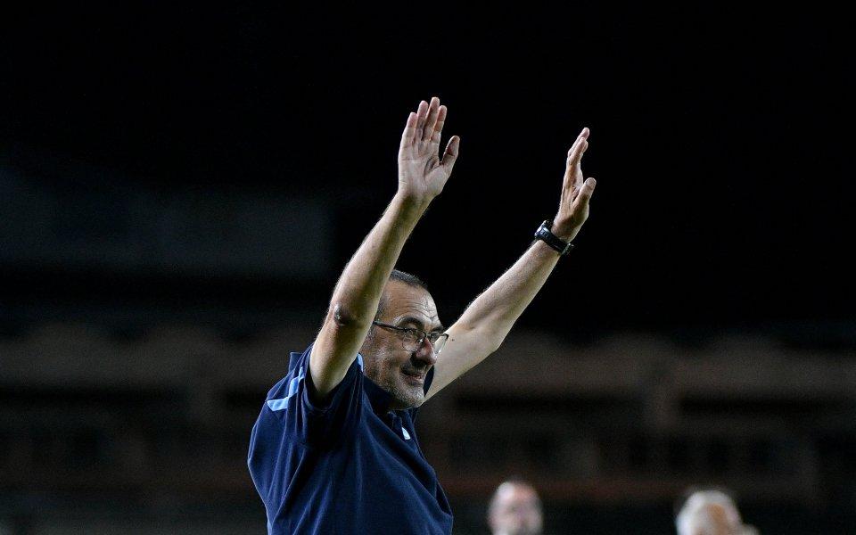 Треньорът на Лацио Маурицио Сари заяви, че е почувствал по-голям