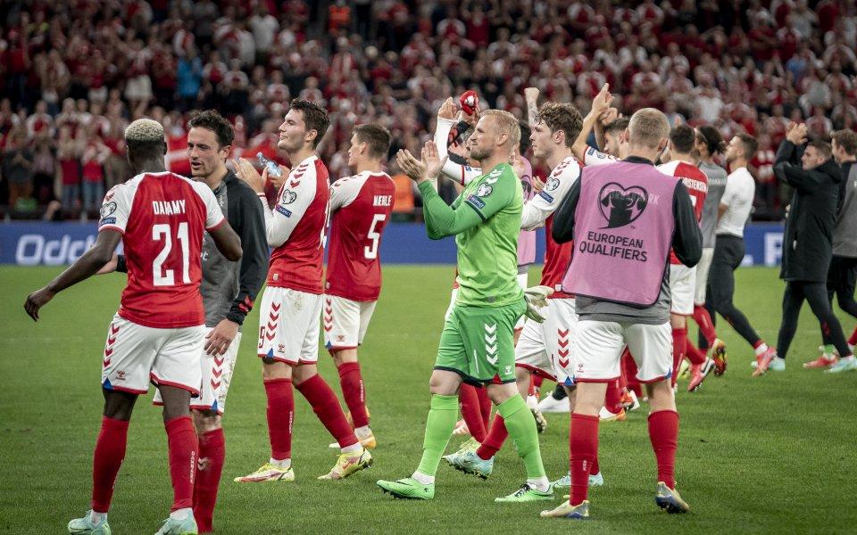 """Дания продължава безгрешното си представяне в група """"F"""" на световните"""