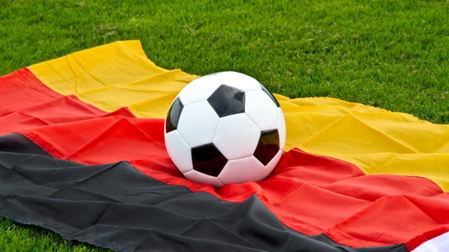 <p>Германски футболисти играха голи в знак на протест&nbsp;</p>