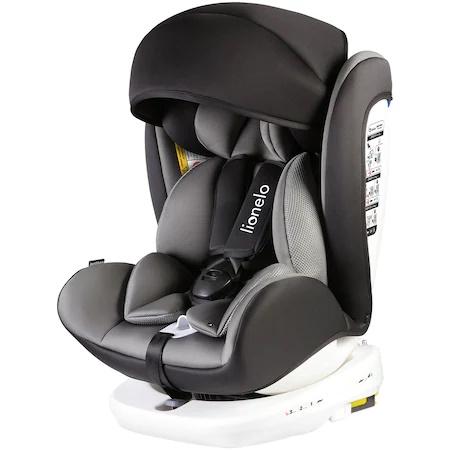Столче за кола ISOFIX Lionelo Bastiaan, Въртящо, 0-36 кг, Сиво