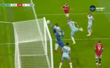 Манчестър Юнайтед - Уест Хем Юнайтед 0:1 /първо полувреме/