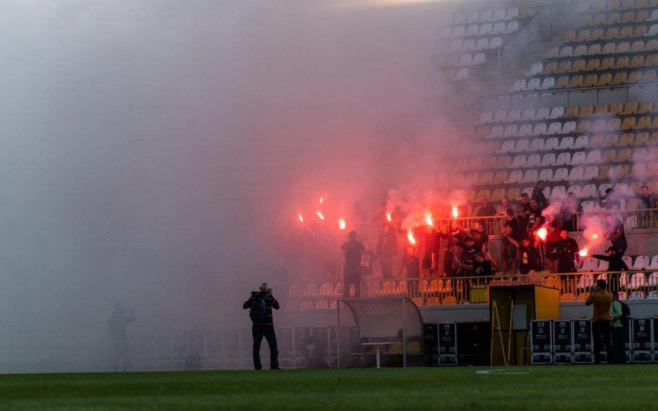 Фенове надъхаха Ботев преди дербито на Пловдив
