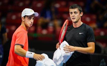 Лазаров и Андреев отпаднаха на двойките в Sofia Open