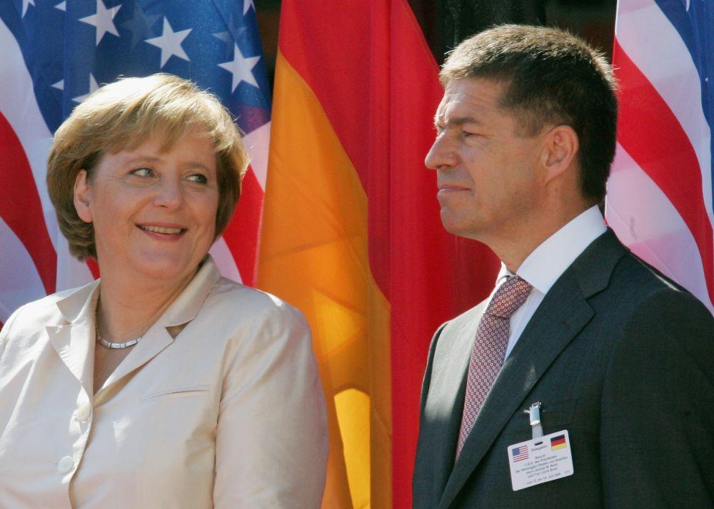 Йоахим Зауер и Ангела Меркел