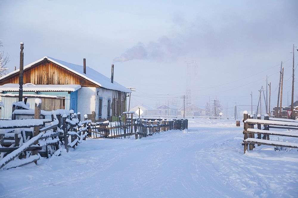 Оймякон, Русия<br> <br> В село Оймякон температурите са падали до -71°С.