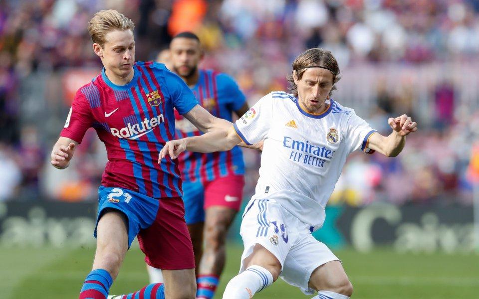 Барселона и Реал Мадрид играят при 0:0 в първоЕл Класико