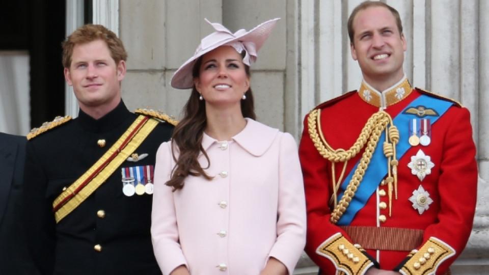 Принц Хари заедно с брат си принц Уилям и снаха си Кейт