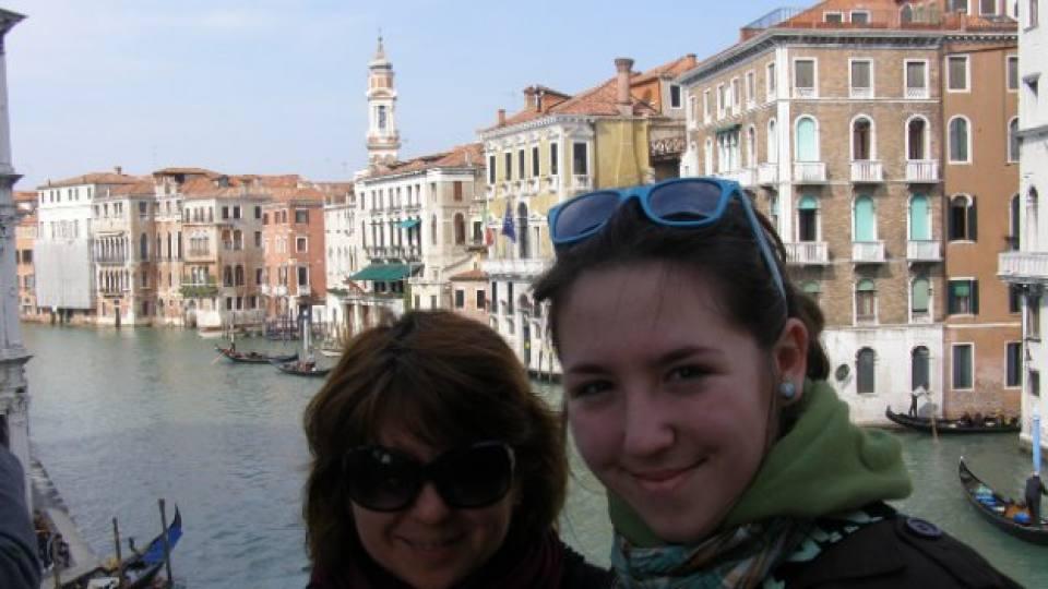 Богдана заедно с дъщеря си