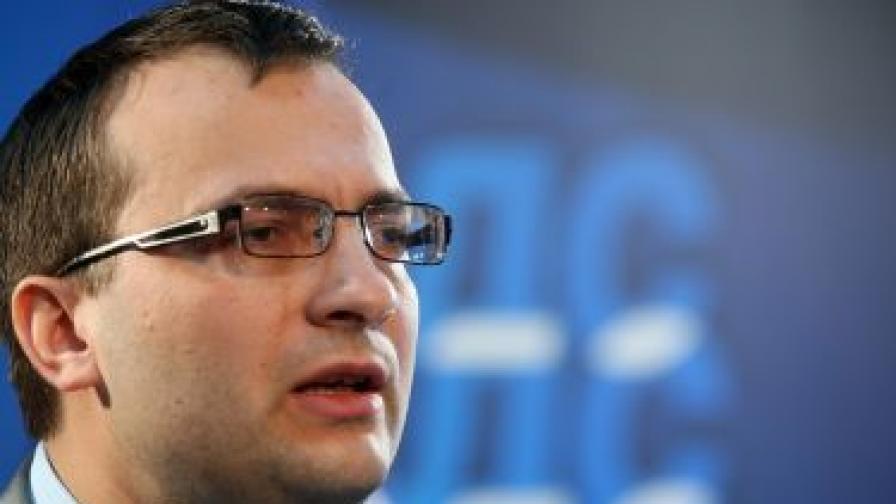 Лидерът на СДС Мартин Димитров.