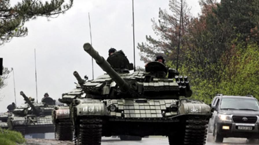 Потушиха метеж в грузинска военна база