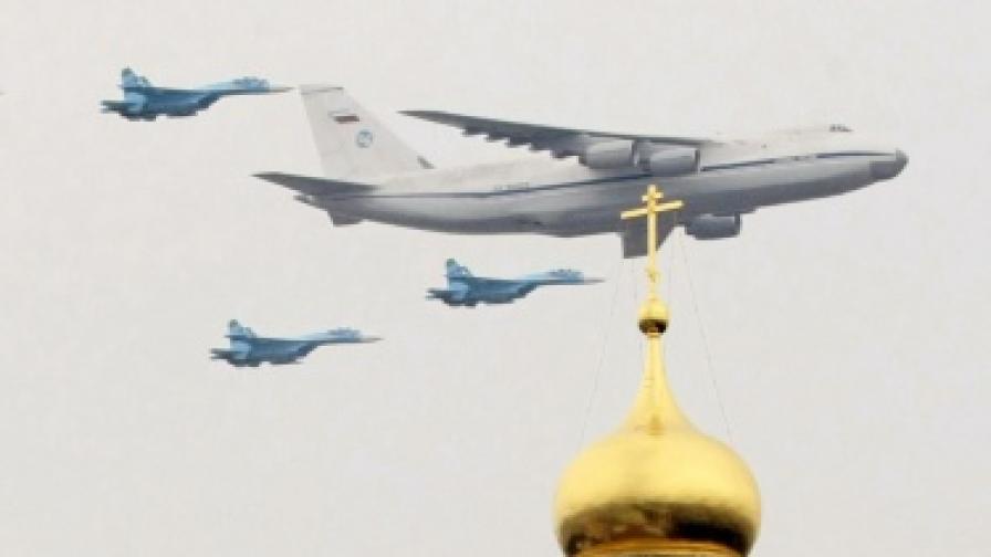 Репетиция на руския военен парад за Деня на Победата