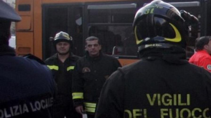 Български автобус се запали в Италия