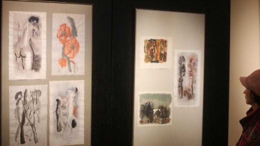 Творби на Дечко Узунов на изложба в София