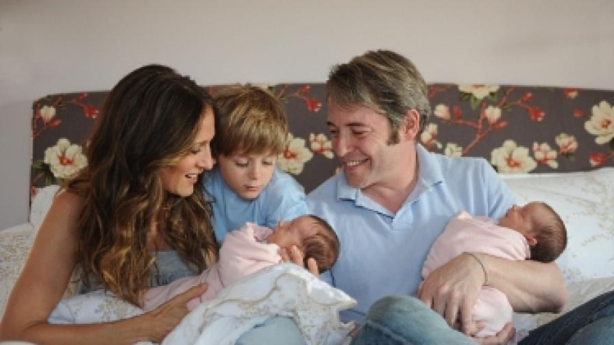 Първата официална семейна снимка на Сара Джесика Паркър и Матю Бродерик с близнаците