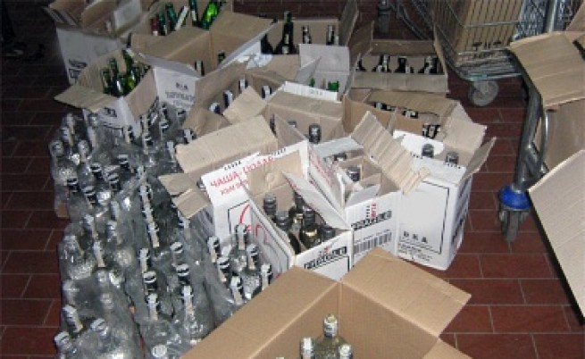 Конфискуваха 300 хил. кутии цигари и алкохол