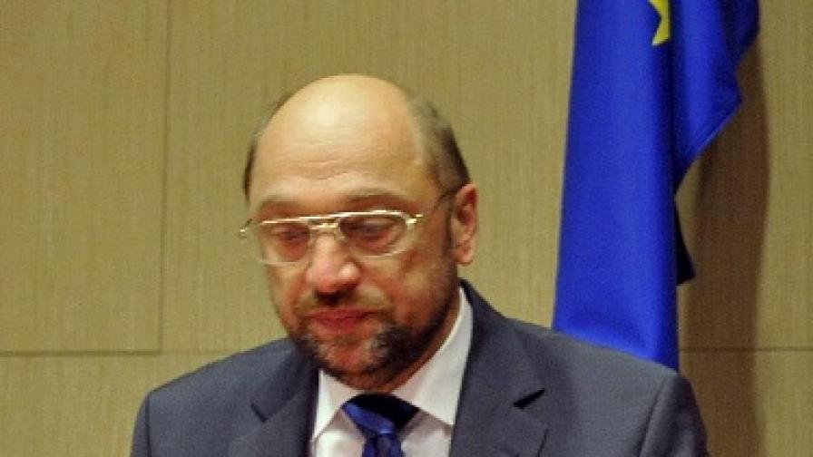 Лидерът на Групата на социалистите в Европейския парламент Мартин Шулц