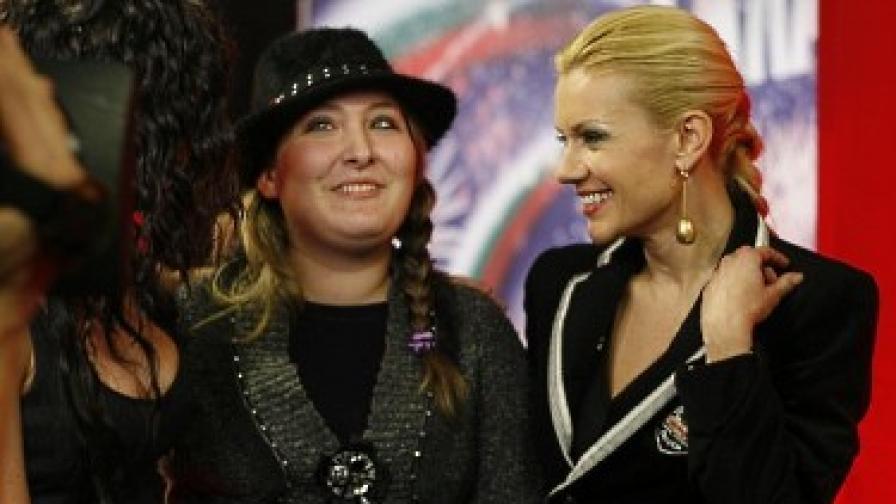 Звездата от първия кастинг Богдана с водещата Мария Игнатова