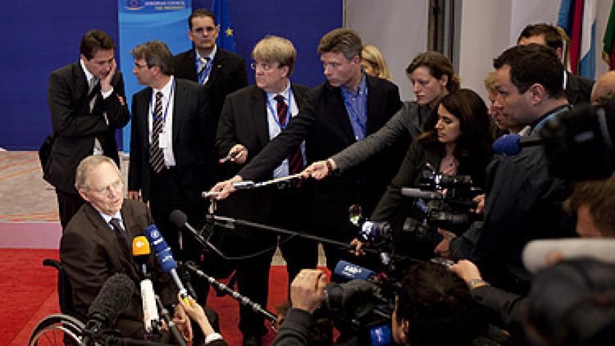 Германският финансов министър не стигна до срещата в Брюксел