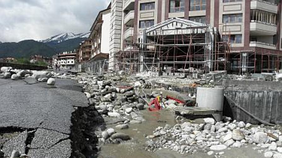 Порои наводниха Банско, щетите са за милиони