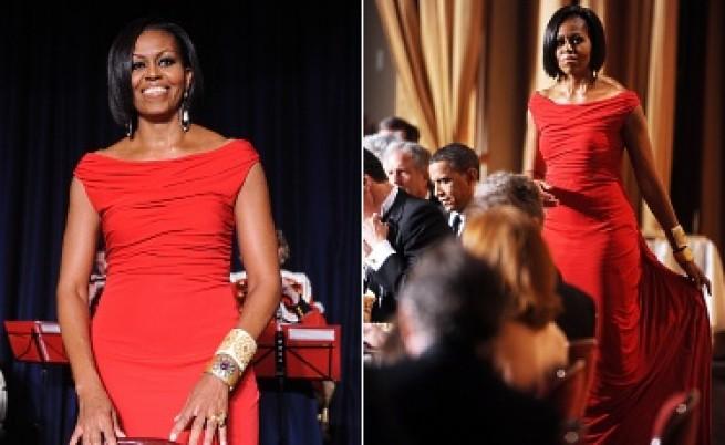 Успях! Мишел Обама носи моя рокля