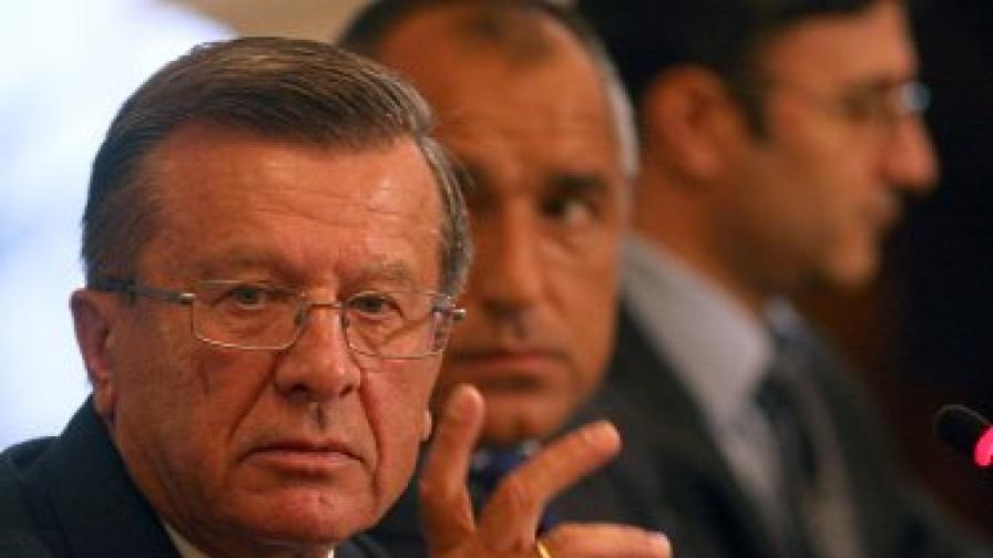 Първият вицепремиер на Русия Виктор Зубков и премиерът Бойко Борисов на срещата в София
