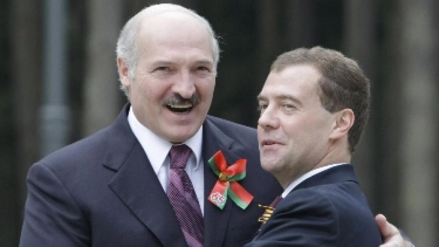 Президентите Лукашенко и Медведев, май 2010 г.