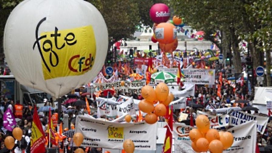 Франция: Между 1 и 2,9 млн. души на протест срещу пенсионната реформа