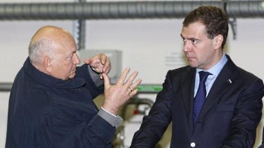 Лужков и Медведев в добрите им времена
