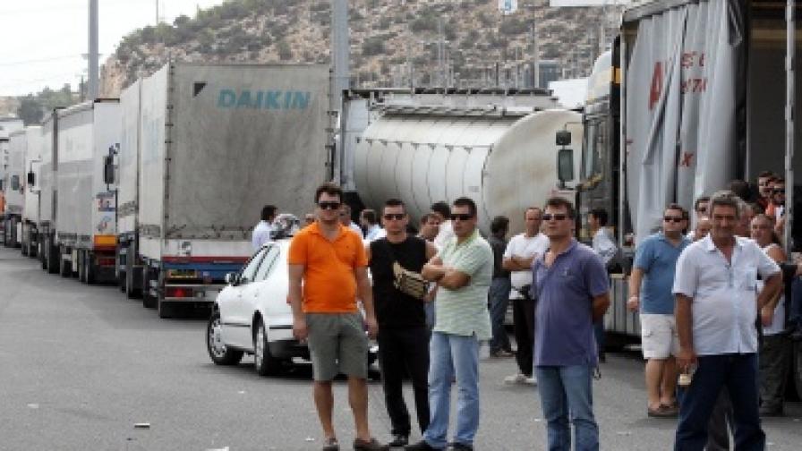 Гръцките превозвачи прекратяват протестите