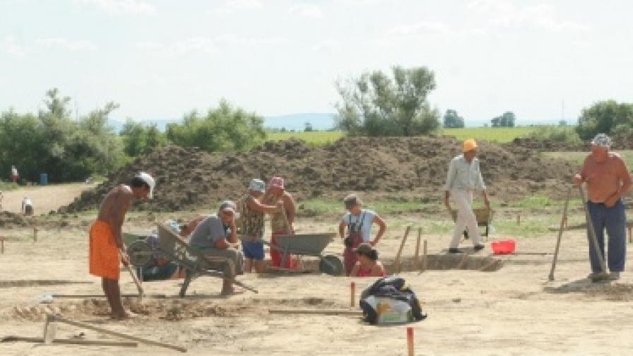 Скелет на 8000 години край село Крум