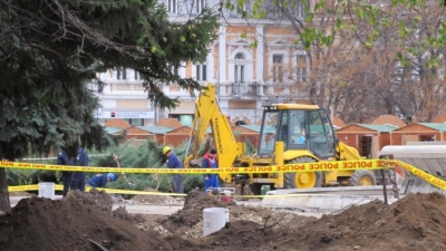 Боен снаряд под площада в Русе