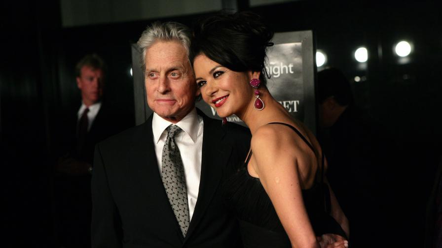 Майкъл Дъглас със съпругата си Катрин Зита-Джоунс