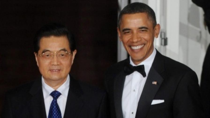 Президентите на САЩ и Китай - Барак Обама и Ху Цзинтао