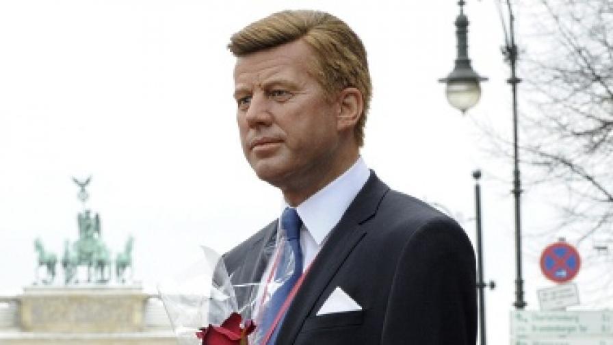 Восъчна фигура на Джон Кенеди, изложена в Берлин, Германия
