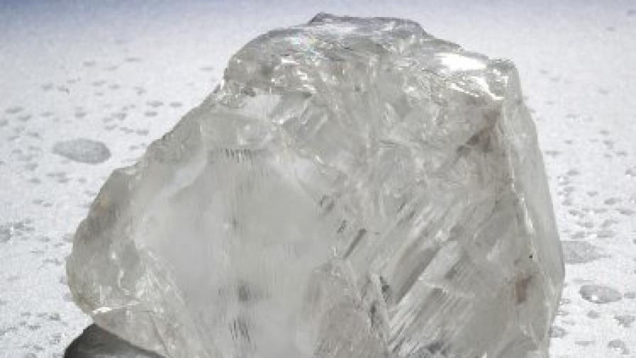 Необработен диамант от мината Кулинан в Южна Африка