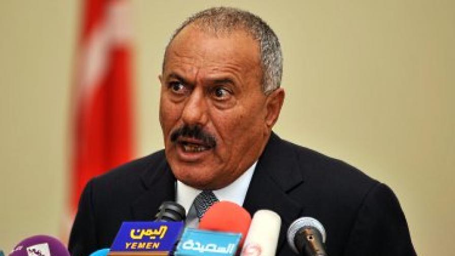 20 хил. души на протест срещу президента в Йемен