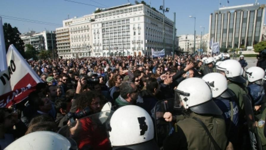 Последните, които протестираха в Атина, бяха лекарите - на 9 февруари 2011
